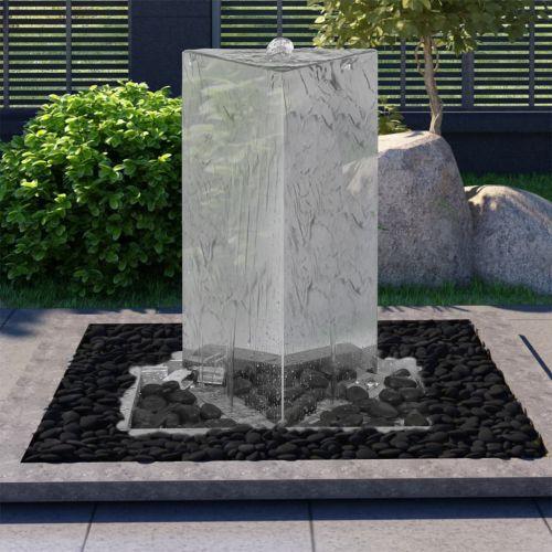 Garden Fountain with Pump Stainless Steel 76 cm Triangular