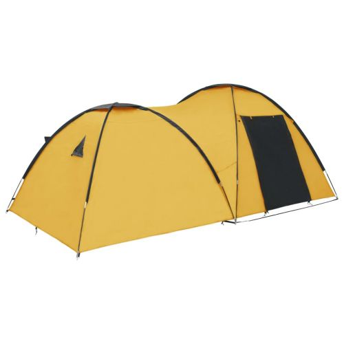 Camping Igloo Tent 450x240x190 cm 4 Person Yellow