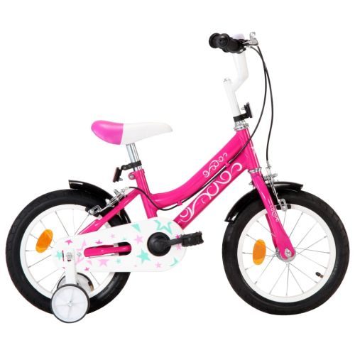Kids Bike 14 inch Black and Pink