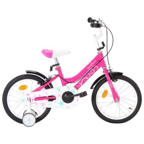Kids Bike 16 inch Black and Pink