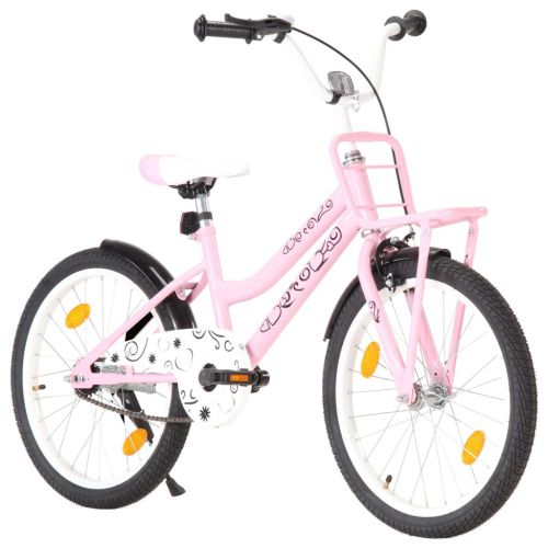 Kids Bike with Front Carrier 20 inch Pink and Black
