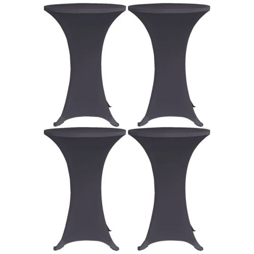 Stretch Table Cover 4 pcs 60 cm Anthracite