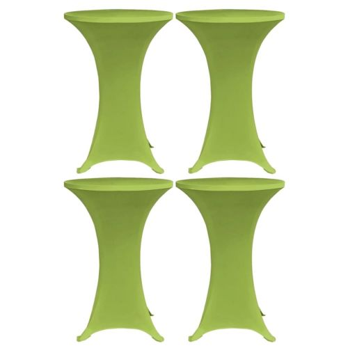 Stretch Table Cover 4 pcs 70 cm Green