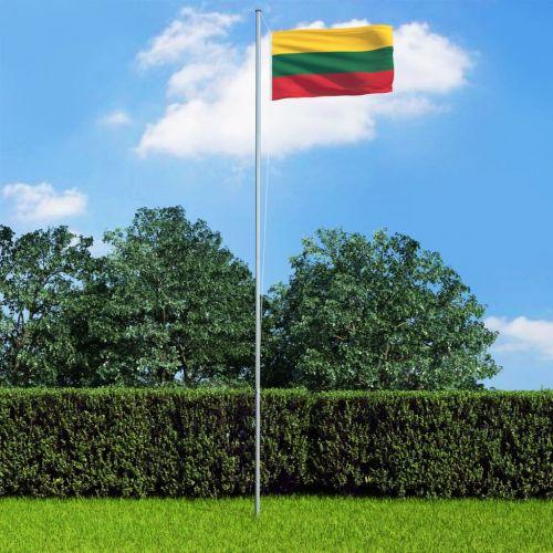 Lithuania Flag and Pole Aluminium 6,2 m