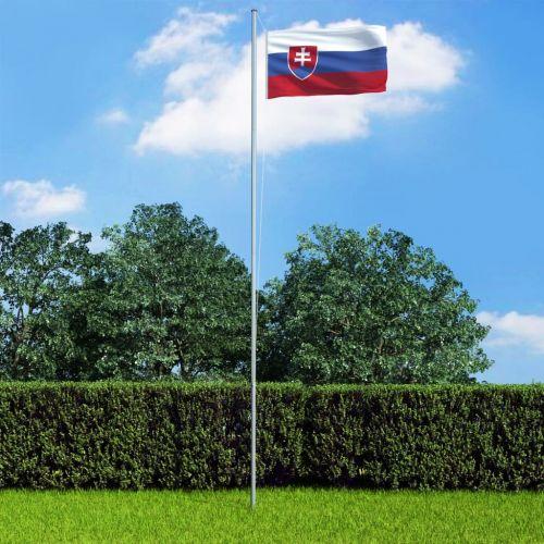 Slovakia Flag and Pole Aluminium 6,2 m
