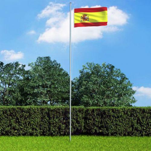 Spain Flag and Pole Aluminium 6,2 m