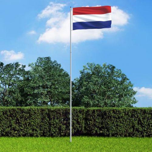 Netherlands Flag and Pole Aluminium 6 m