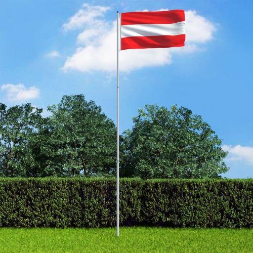Austria Flag and Pole Aluminium 6 m