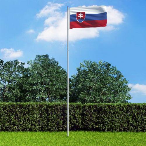 Slovakia Flag and Pole Aluminium 6 m