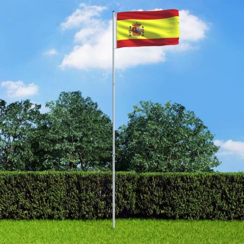 Spain Flag and Pole Aluminium 6 m