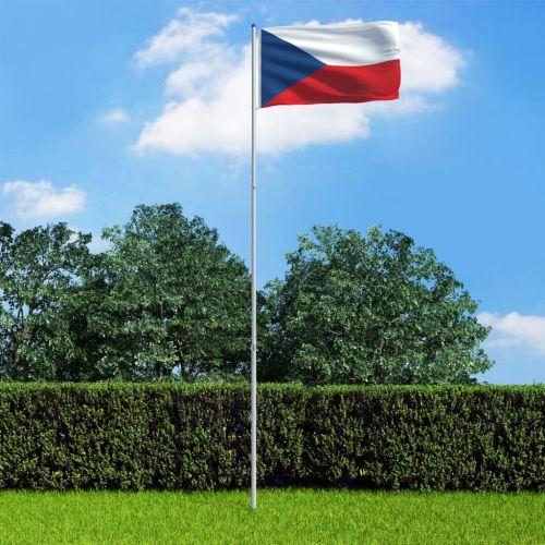 Czech Flag and Pole Aluminium 6 m
