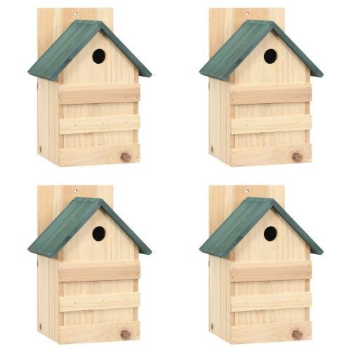 Bird Houses 4 pcs 23x19x33 cm Firwood