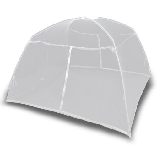 Camping Tent 200x120x130 cm Fiberglass White
