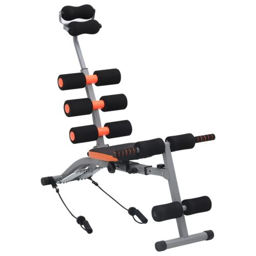 L-shaped Abdominal Trainer with Elastic Strings