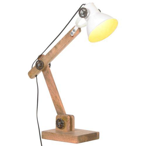 Industrial Desk Lamp White Round 58x18x90 cm E27