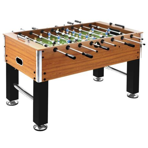 Football Table Steel 60 kg 140x74.5x87.5 cm Light Brown and Black