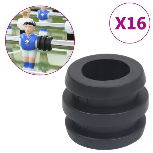 Football Table Rod Stoppers for 15.9/16 mm Rod 16 pcs