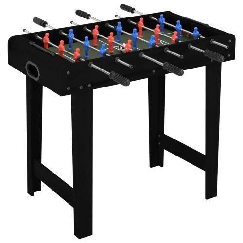 Mini Soccer Table 69x37x62 cm Black