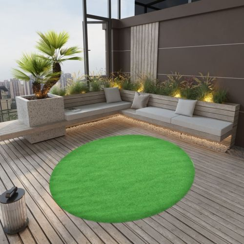 Artificial Grass with Studs Dia.170 cm Green Round
