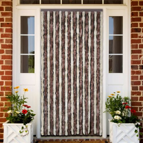 Insect Curtain Beige and Light Brown 56x200 cm Chenille