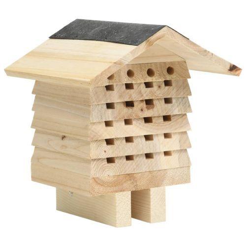Bee Hotel Solid Firwood 22x20x20 cm