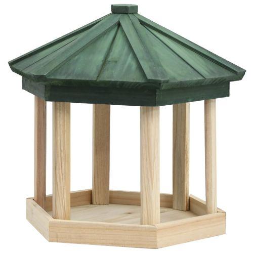 Bird Feeder Octagon Solid Firwood 33x30 cm