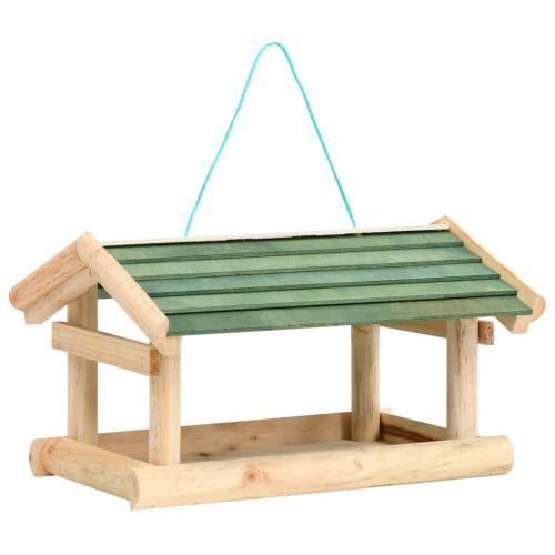Bird Feeder Solid Wood 35x29.5x21 cm