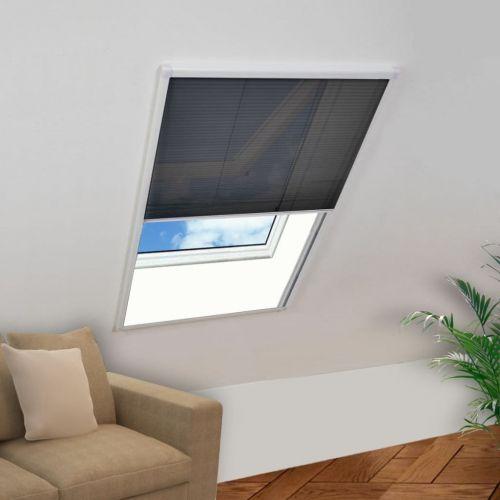 Plisse Insect Screen for Windows Aluminium 120x160 cm