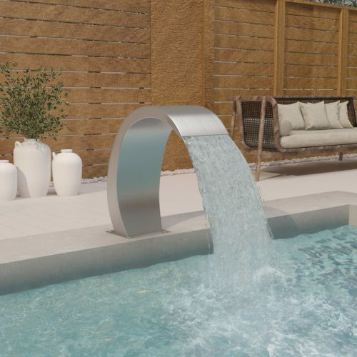 Pool Fountain 30x60x70 cm Stainless Steel 304