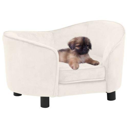 Dog Sofa Cream 69x49x40 cm Plush