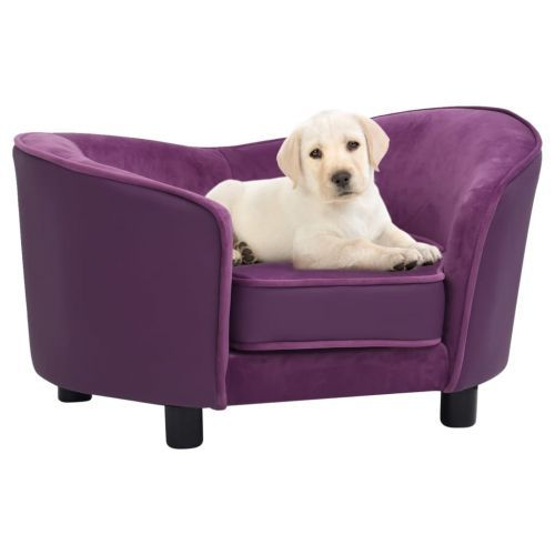 Dog Sofa Burgundy 69x49x40 cm Plush and Faux Leather