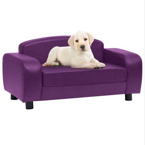 Dog Sofa Burgundy 80x50x40 cm Faux Leather