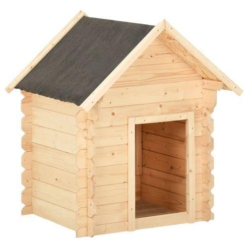 Dog House 125x80x100 cm Solid Pine Wood 14 mm