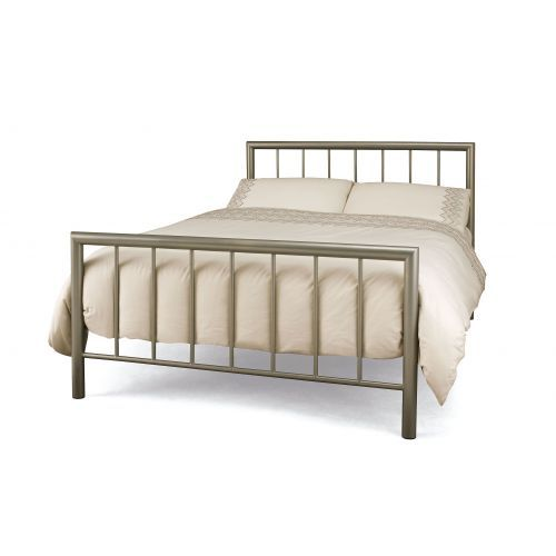 Modena Metal Bed - 4 Sizes - Champagne or Black