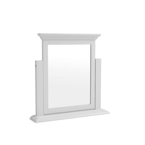 Modern Trinket Mirror - White