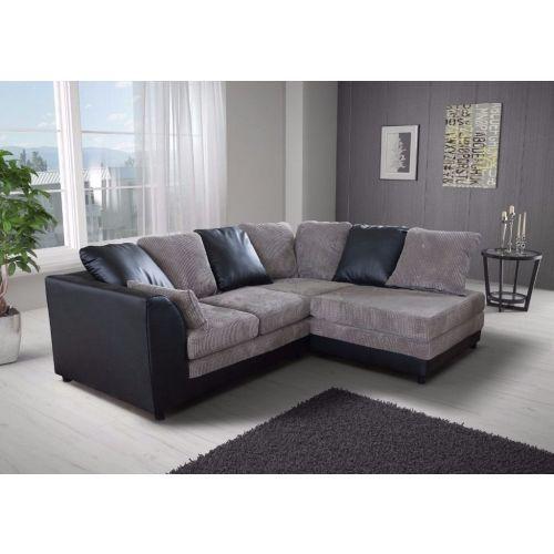 Benson Corner Sofa - Black and Grey