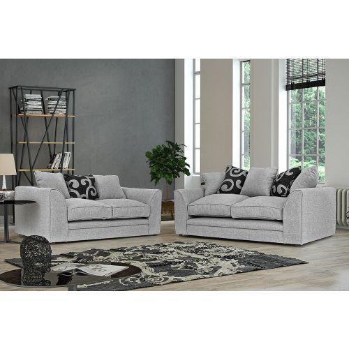 Dorota Fabric 3 Seater and 2 Seater Sofa Set