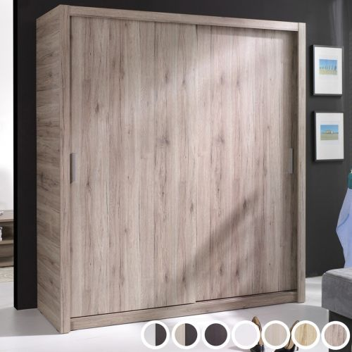 Pallas 2-Door Sliding Wardrobe 180cm - 2 Colours