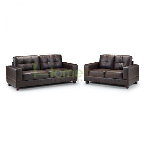 Jior Faux Leather 3 & 2 Seater Sofa - 2 Colours