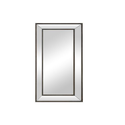 Small Bevelled Glass Mirror - Aged Metal