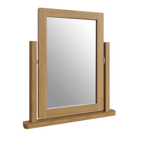 Cardano Trinket Mirror - Rustic Oak