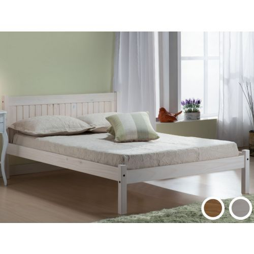 Birlea Rio Waxed Pine or White Washed Bed Frame