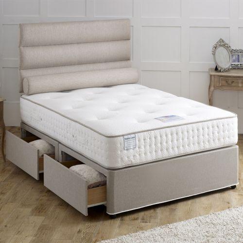 Vogue Earl Ottoman 1000 Pocket Latex Divan Bed 4FT Small Double