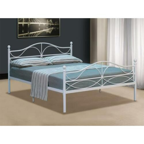 French Designer Metal Bed Frame with Mattress Option