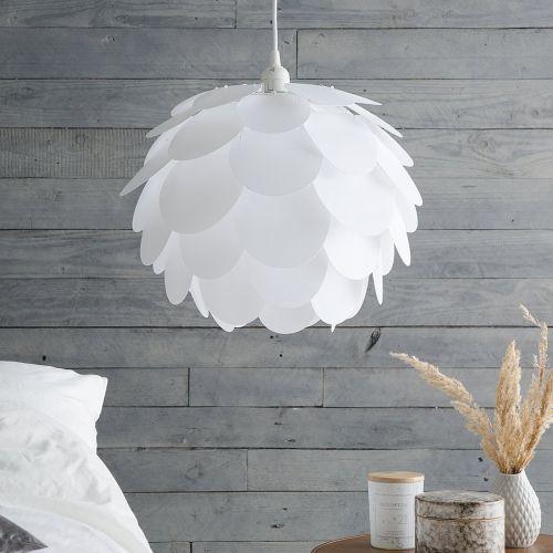 Rhone Plastic Pendant Lamp - White