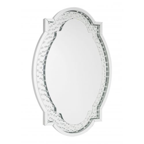 LPD Valentina Mirrored Oval Wall Mirror