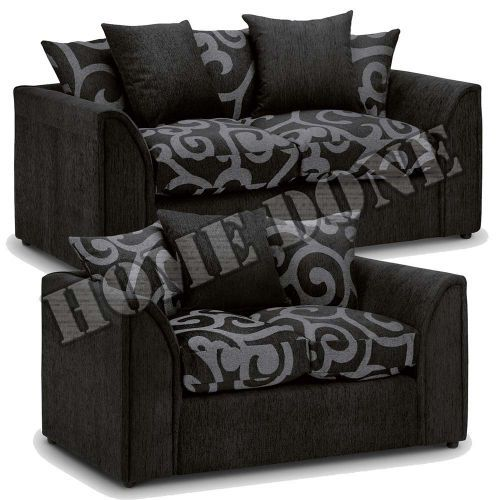 Zina Chenille Fabric 3 Seater and 2 Seater Sofa Set